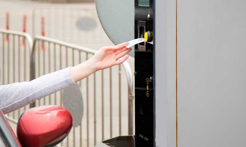 Injury from scanning employee parking pass not compensable
