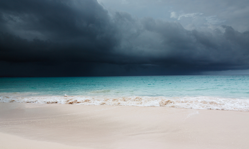 Tropical storm approaching Barbados