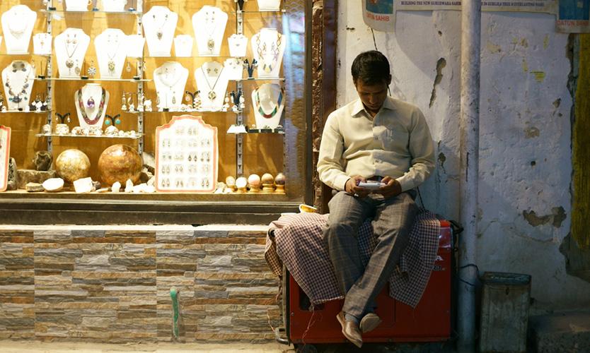 Shopowner in Kashmir