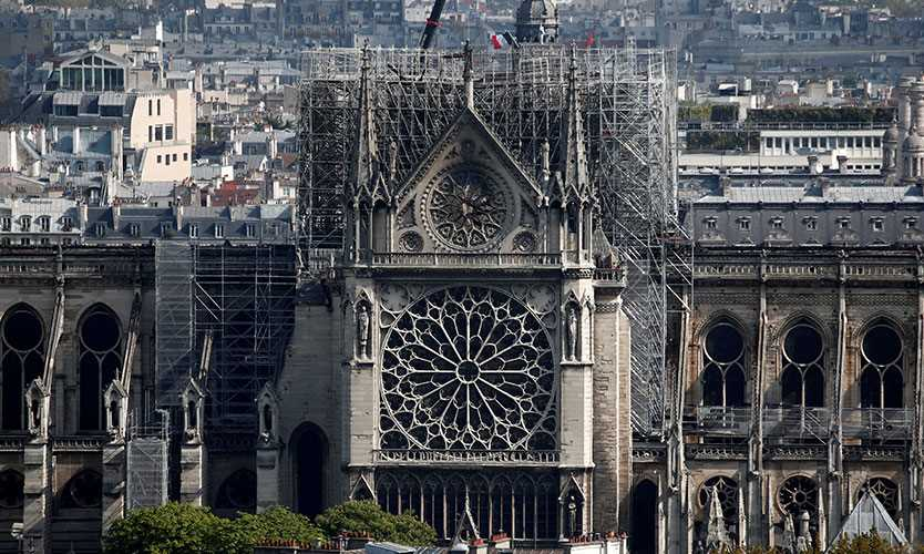 Notre Dame Cathedral damage