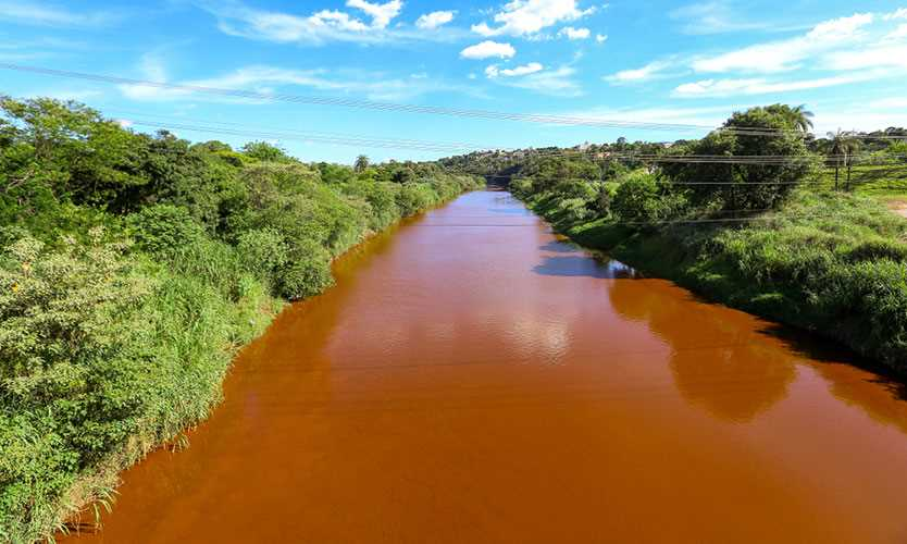 Paraopeba River polluted by tailings after the collapse of Dam of the Córrego do Feijão mine of Vale SA in Brumadinho, Minas Gerais, Brazil