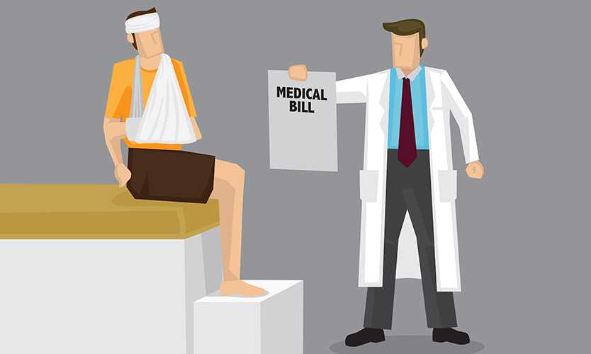 Medical bill for injured worker