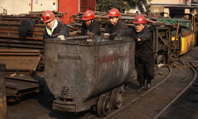 Chinese coal miners