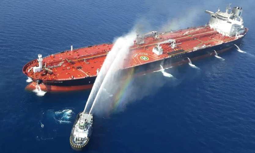Oman tanker fire