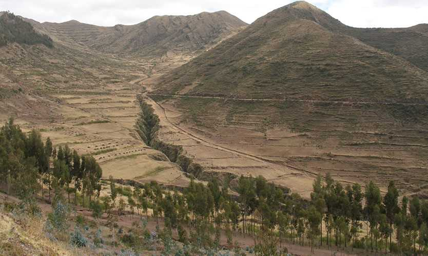Fault line in Peru