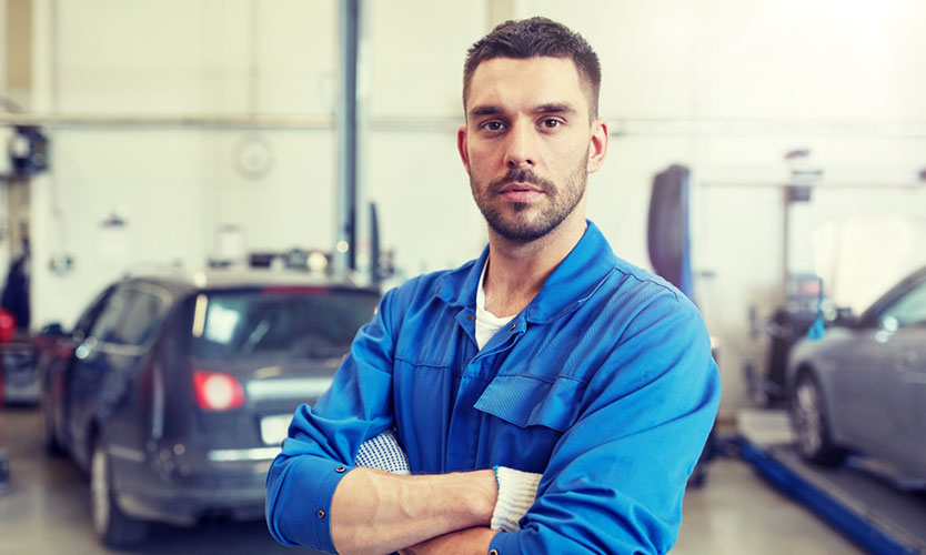 Hispanic Latino auto worker