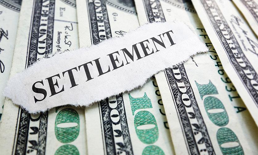 settlement cash
