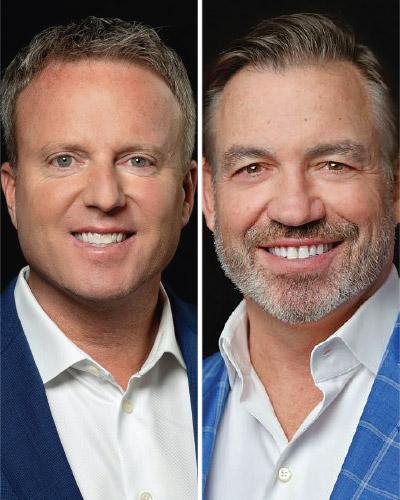 Peter Clune, left, Ron Lockton
