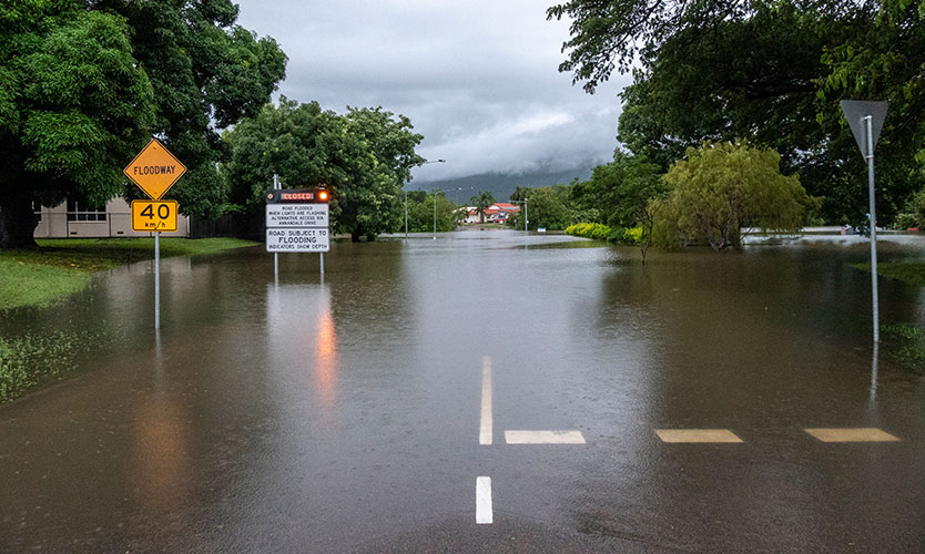 Flooding in Townsville, Australia, earlier this year
