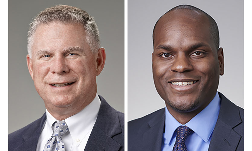 Steve Cooper, left, and Abel Travis