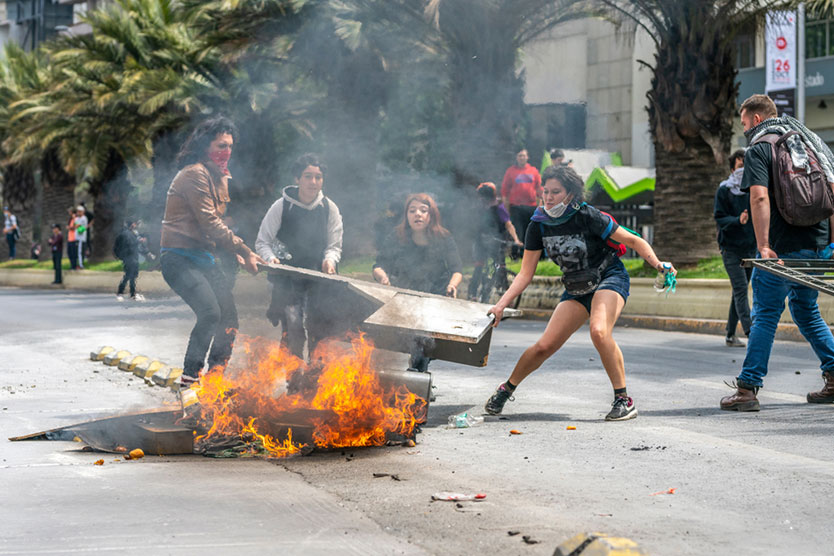 Riots in Santiago, Chile