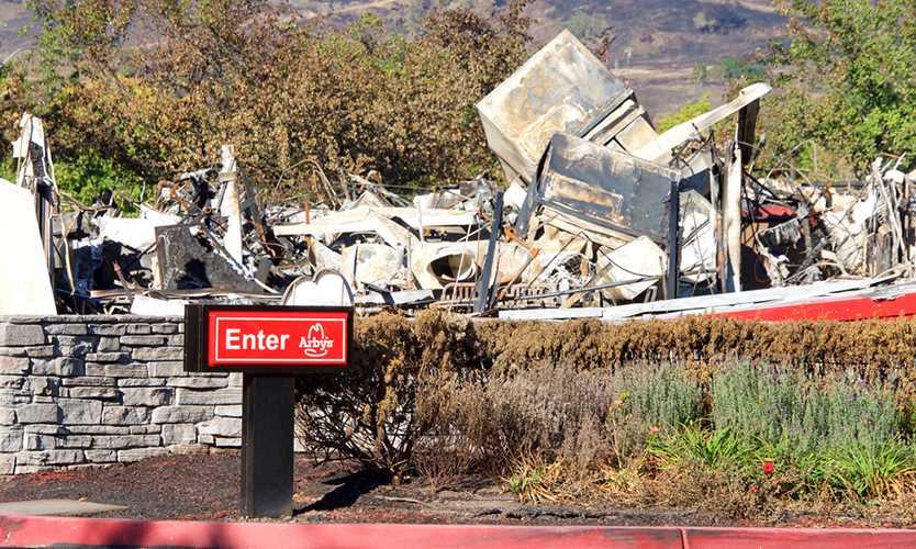 Wildfire damaga in Santa Rosa, California