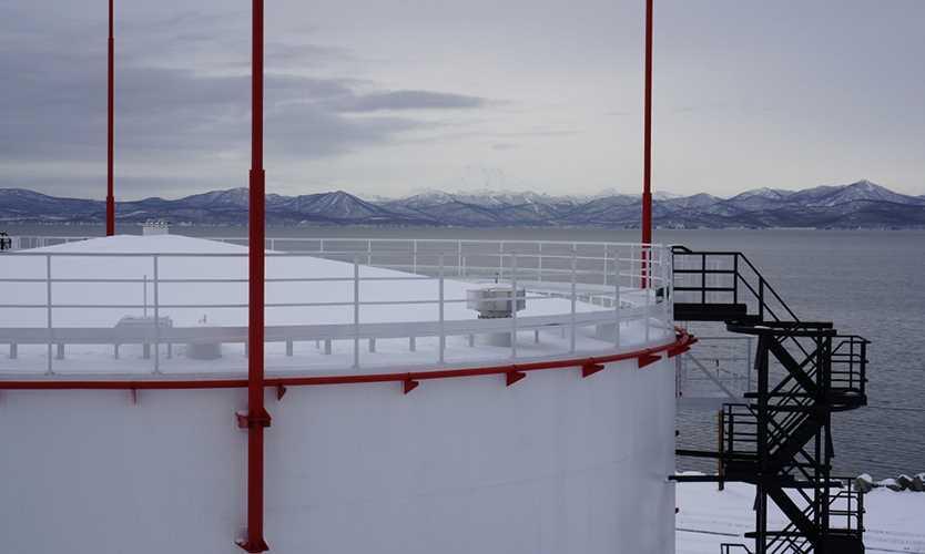 Russian oil storage tank