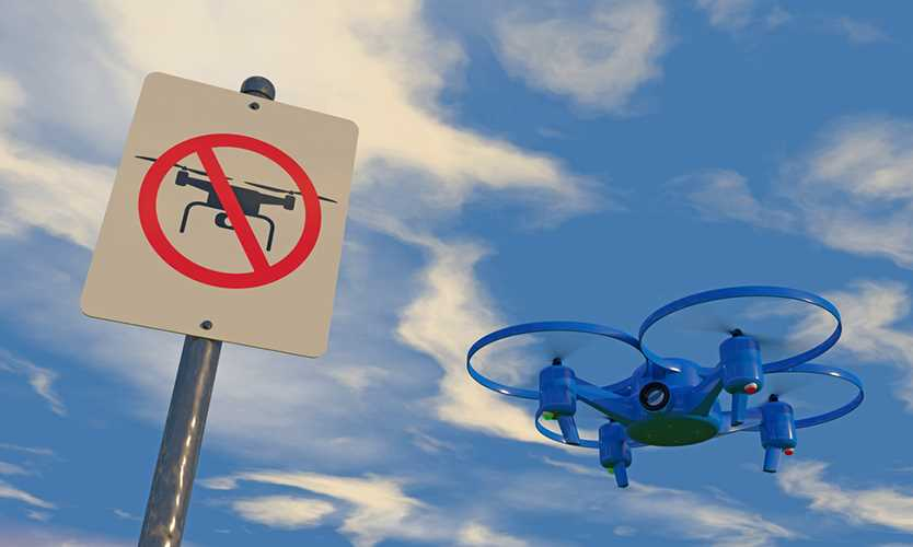 Drones buzz up against private property trespassing limits