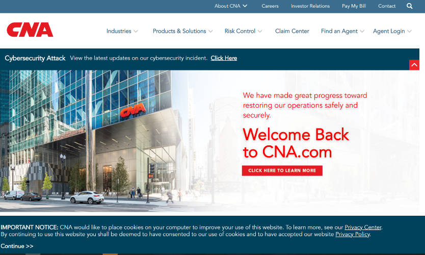 CNA website