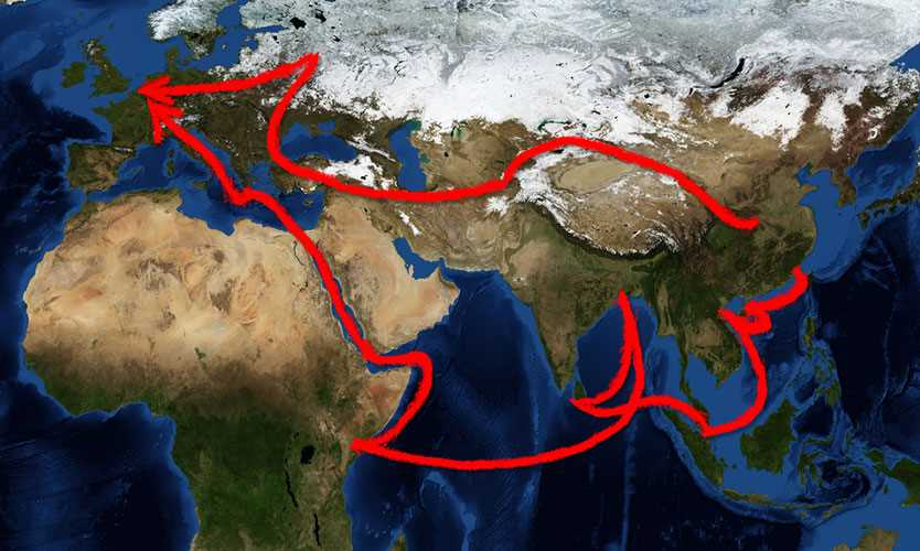Chinese belt and road project