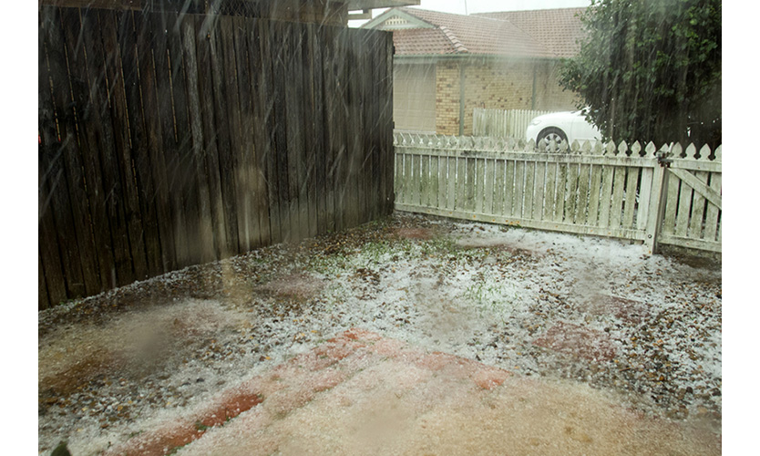 Hailstorm in Queensland