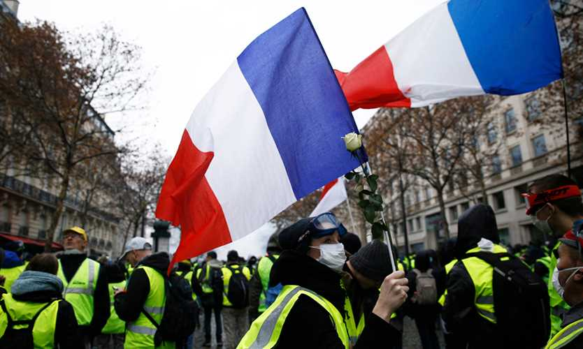 Yellow vest protest in France