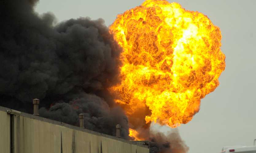 Chemical plant explosion occurs after previous safety citations