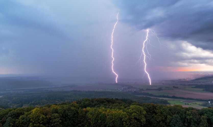 Thunderstorm in Germany