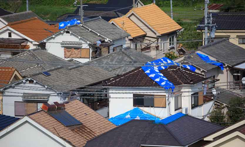 Damage from Typhoon Jebi in Japan