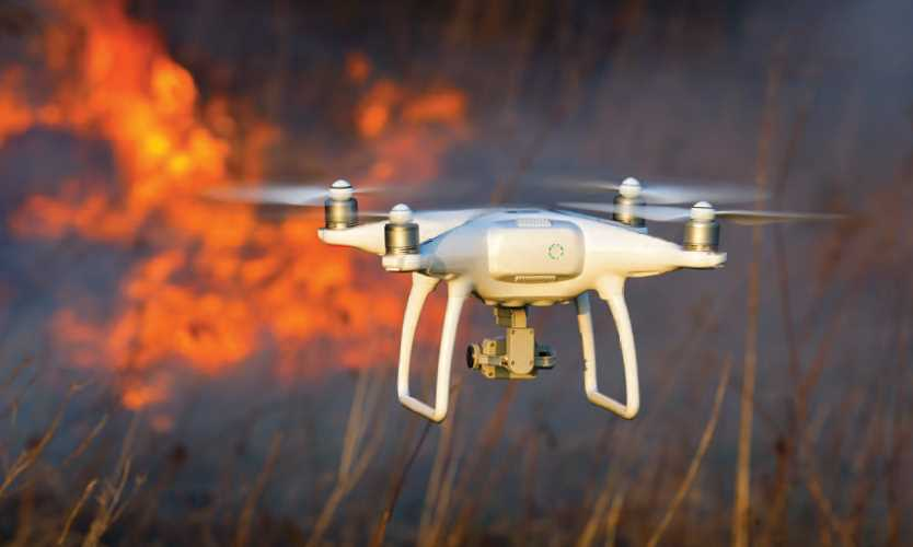 Drone asses wildfire damage