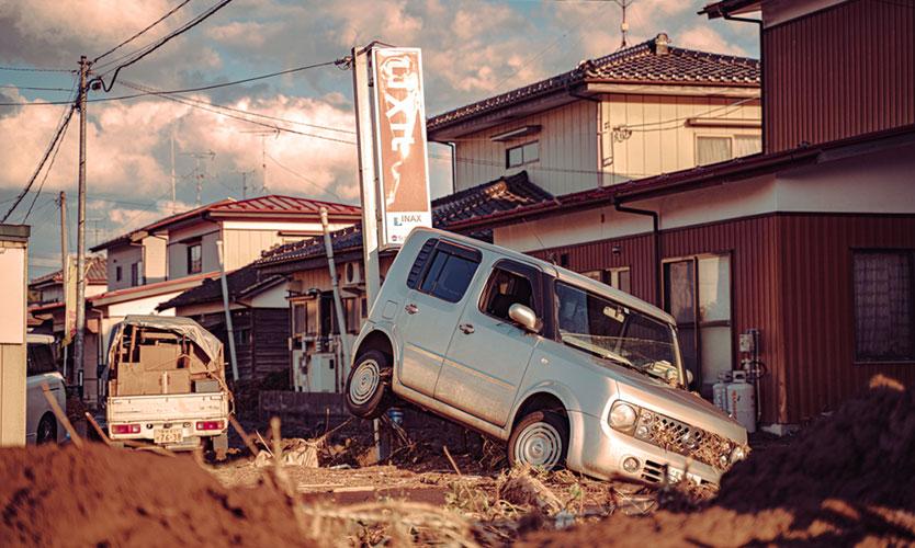 Damage from Typhoon Hagibis