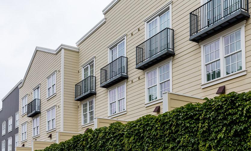Condominium siding