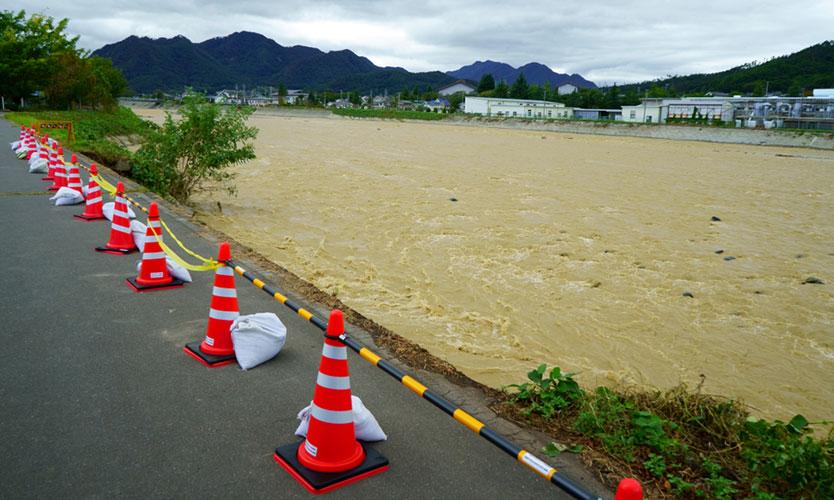 Flooding after Typhoon Hagibis