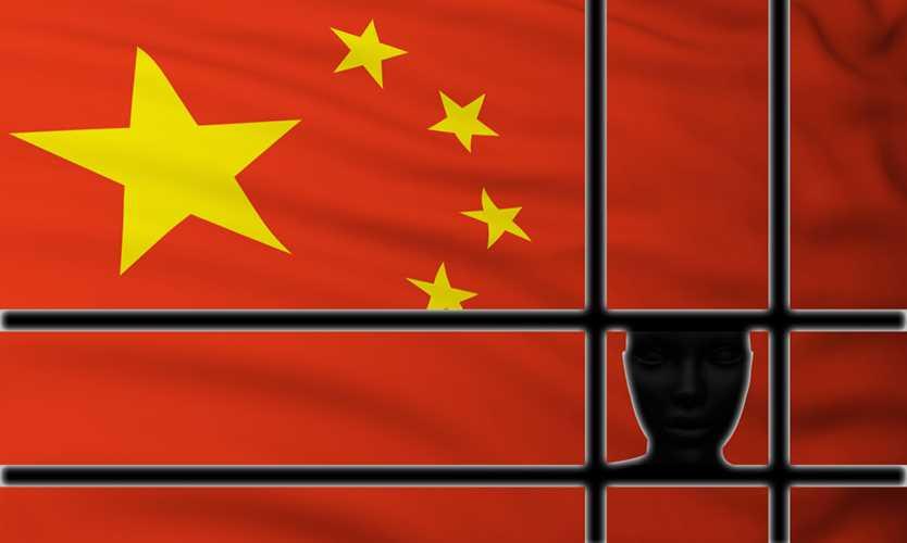 Under arrest in China