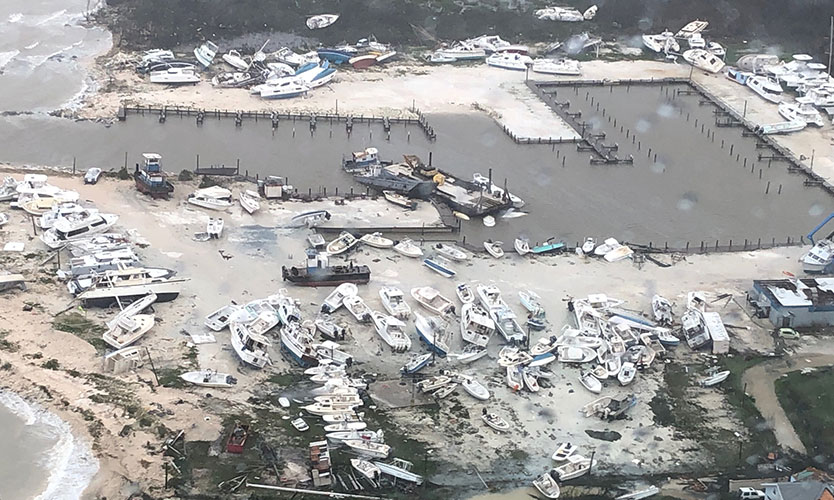 Aftermath of Hurricane Dorian in the Bahamas