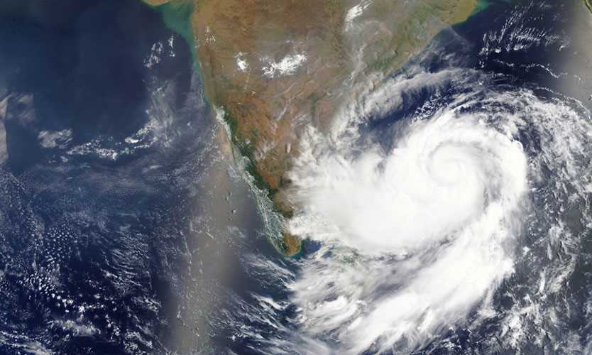 Cyclone Fani approaching India