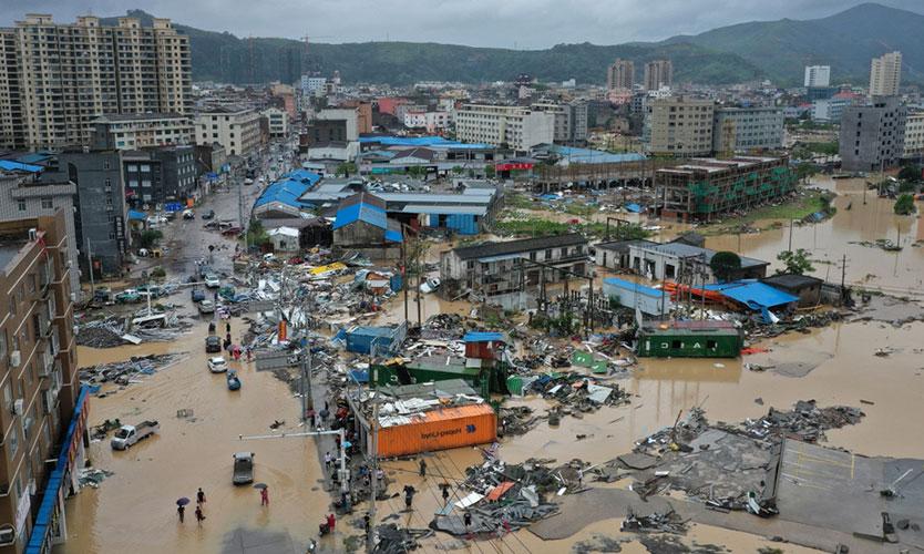 Damage from Typhoon Lekima
