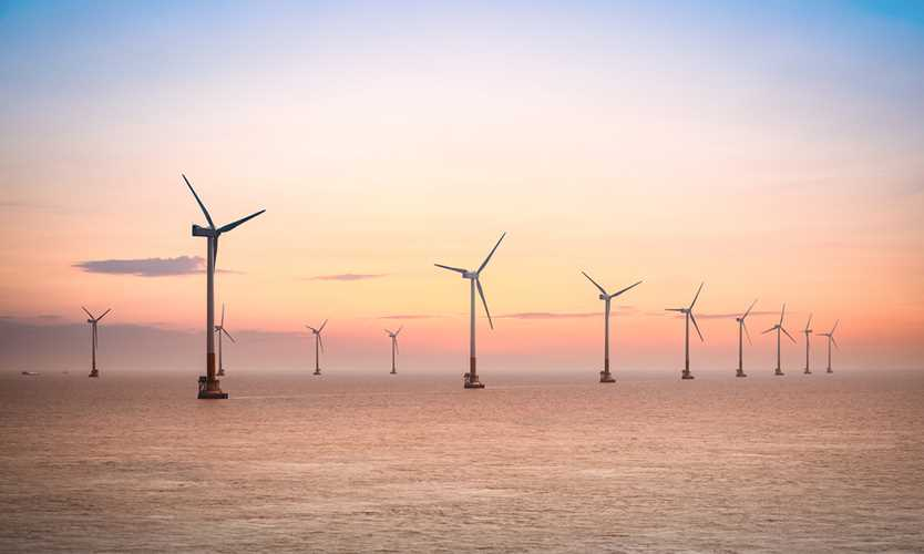 Offshore wind farm in the East China Sea