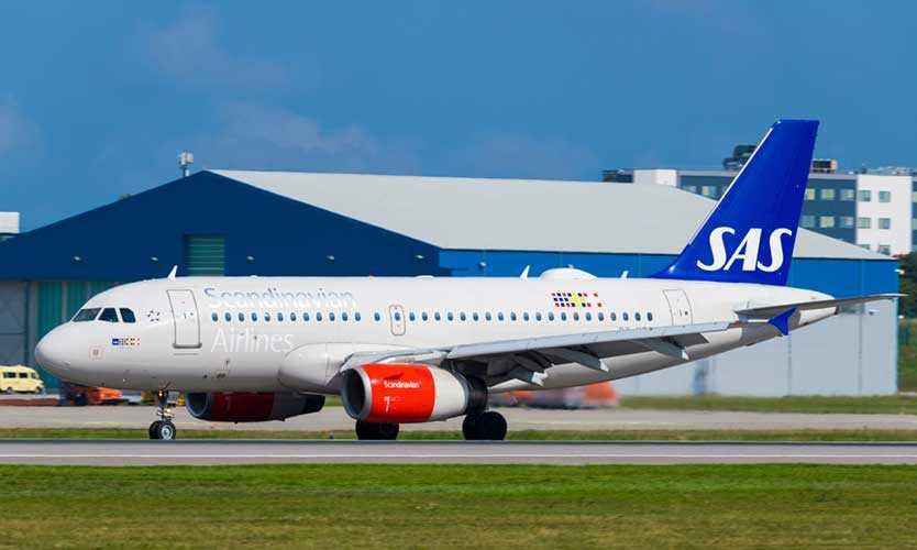 Scandinavian SAS airplane