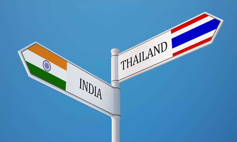 Thailand and India