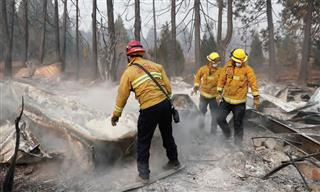 The Camp Fire in aradise, California, n November 2018, as one of several ecent wildfires that aused significant losses to insurers.