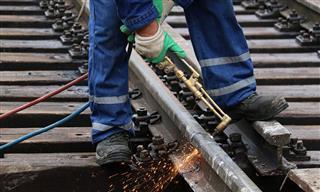 Railroad welder