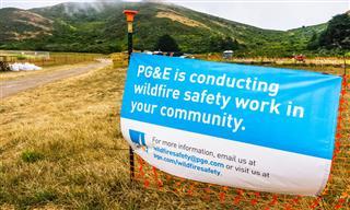 PG&E notice in Sausalito, California