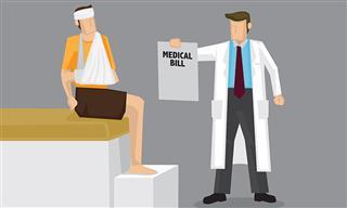 Medical bill for injured worker