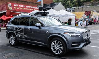 Uber self-driving car in Pittsburgh