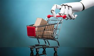 Googly eyed robot risk manager to look for spills in grocery store
