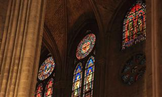 Stained glass windows of Notre Dame before the fire