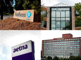 Regulatory approval outcome of high-stakes mergers between health insurers Aetna and Humana and Anthem and Cigna unclear