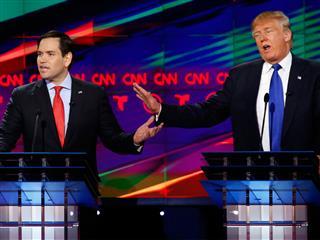 Florida Senator Marco Rubio attacks Donald Trump for vague health care plan during Republican presidential debate