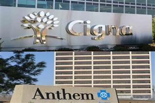 Anthem Cigna merger squabbles Express Scripts Humana Aetna health insurers pharmacy benefit manager