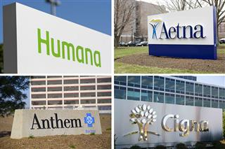 Senate Democrats Aetna-Humana Anthem-Cigna mergers antitrust U.S. Department of Justice letter
