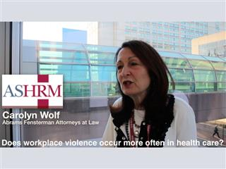 Business Insurance 2015 American Society for Healthcare Risk Management Conference, ASHRM, video: Workplace violence, health care