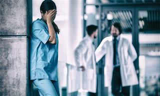 upset nurse