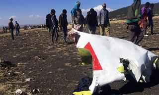 Ethiopian Airlines plane crash site